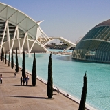 The science museum and planetarium at Valencia art and science center