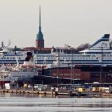 The tip of Katajanokka, M/S Viking Rosella ja M/S Silja Serenade