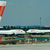 British Airways Boeing 747 airplanes