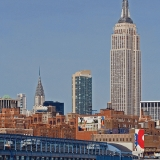 Chelea piers, Chrysler building and the Empire state building