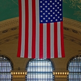 The flag at Grand Central Station