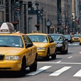 Cabs on 5th avenue