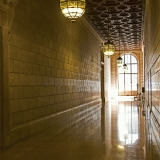 A corridor at the New York public library