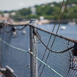 A deck fence on USS Massachusetts