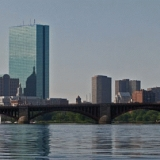 Charles river, Longfellow bridge and the Boston skyline