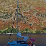 A lonesome sailboat at Ullswater