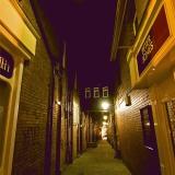 A dim alley