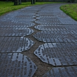 A path made of grave stones