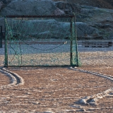 Soccer goals at Suomenlinna sport field