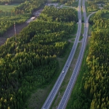 The highway from Helsinki to Lahti at Mäntsälä, construction of the