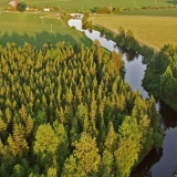 Mäntsälänjoki river flows through forests and fields