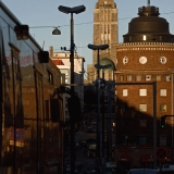 Siltasaarenkatu street and Kallio church
