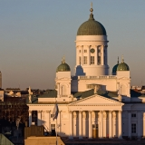 Kallio church and the Helsinki Cathedral
