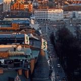 Pohjoisesplanadi nähtynä Hotelli Tornin kattoterassilta