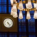 Lamps and the clock