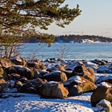 Melkki island behind the tip of Särkiniemi