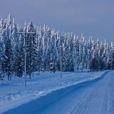 A snowy Virkkulantie road