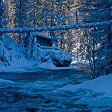 Myllykoski rapids in Kitkajoki river in Kuusamo