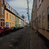 Colorful houses on Rue Richelieu