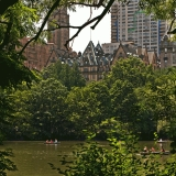 The Dakota peeks behind Central Park trees