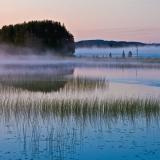 Foggy Paanajärvi lake