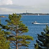 View from Pampskatan to Rönnskär