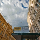 Tram stop at Hallituskatu