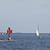 A navigation beacon next to Utö island