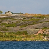 A coastal cannon at Ormskär island in Utö