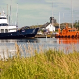 M/S Aspö and a pilot cutter at the Utö port