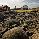 View towards Utö chapel and lighthouse
