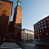 Kristuskyrkanin torni Vänrikki Stoolin kadulla