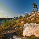 A rocky hill