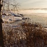 Merisavua Lauttasaaren Koirakivenniemen edustalla
