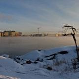 Jäätynyt Lauttasaarensalmi