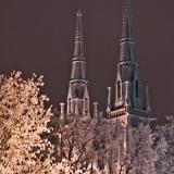 A frozen Johanneksenkirkko church