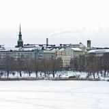 Hesperian puisto ja Töölön kaupunginosa nähtynä Töölönlahden yli Linnunlaulusta
