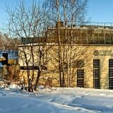 Nikkilän entinen mielisairaala talviasussa