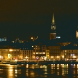 Stockholm's old city at night