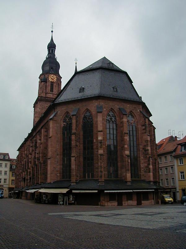 Heiliggeistkirche Heidelbergin vanhassakaupungissa