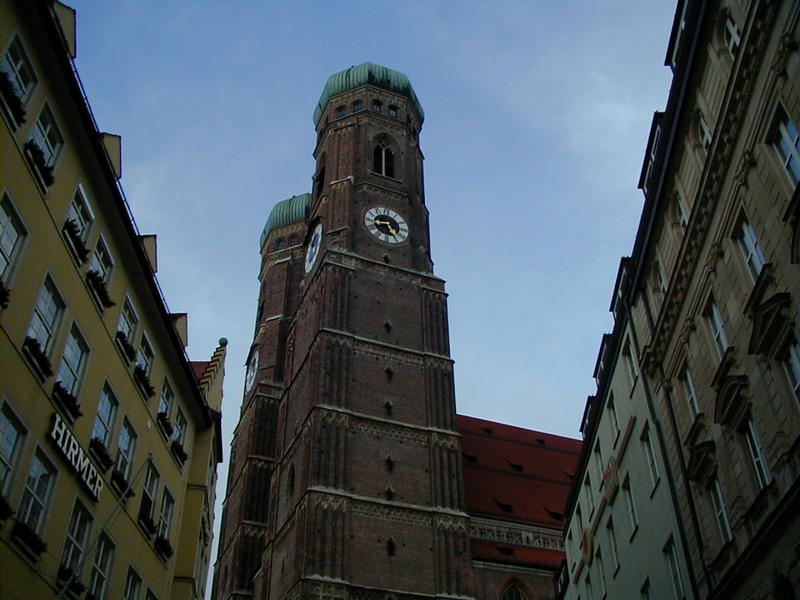 The towers of the Munich cathedral