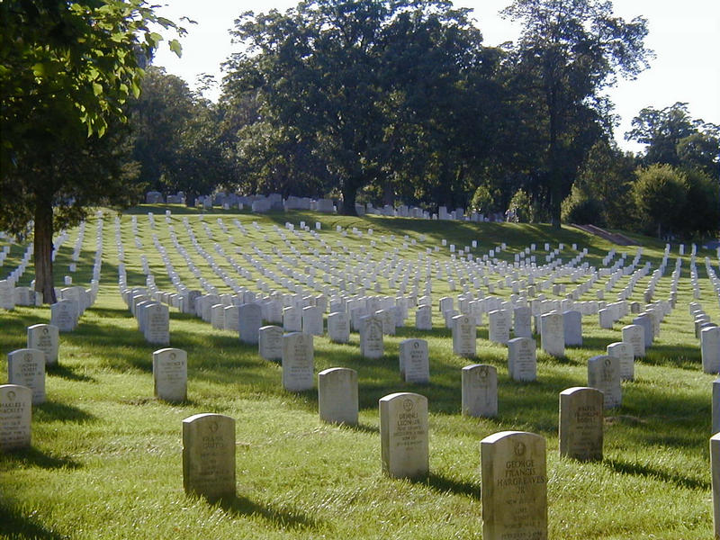Grave stones at the Arlington National Cemetery