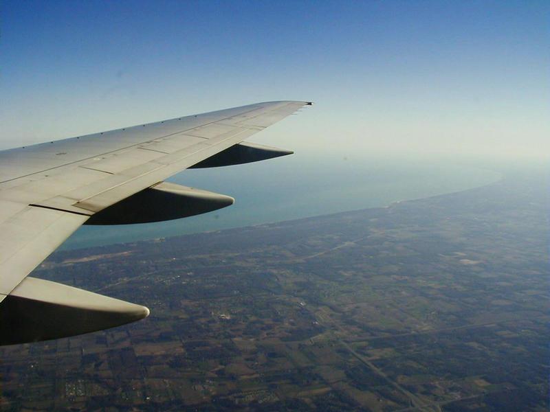 Lentokone Michiganjärven yllä