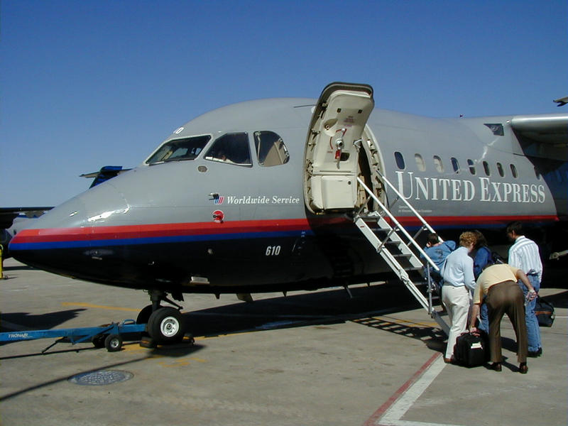 An United Express' airplane at the O'Hare International airport