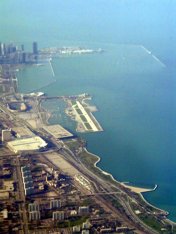 The Merrill C. Meigs airport at Chicago