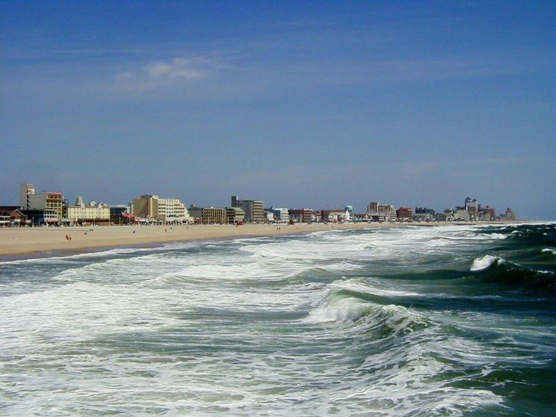 Atlantin rantaviivaa Ocean Cityn kohdalta