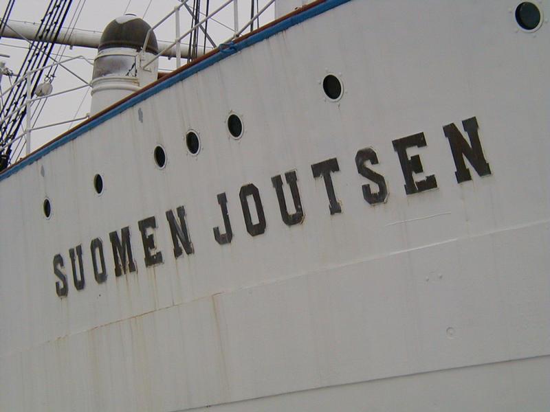 The Suomen Joutsen sailing ship