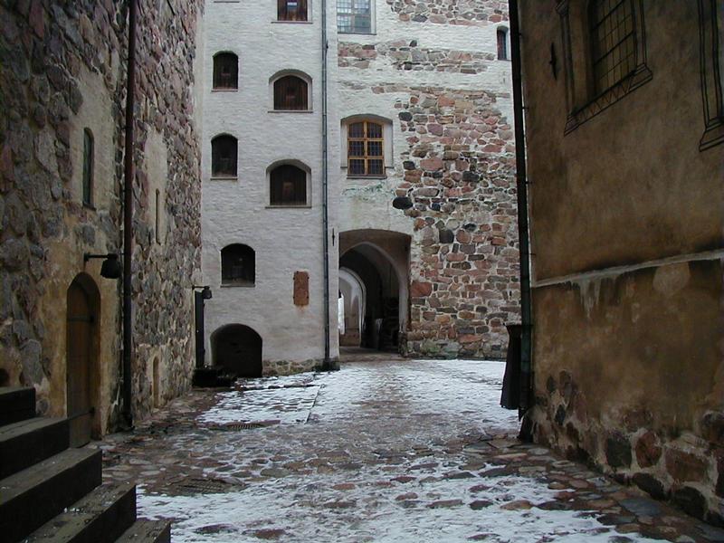 Turun linnan sisäpihaa