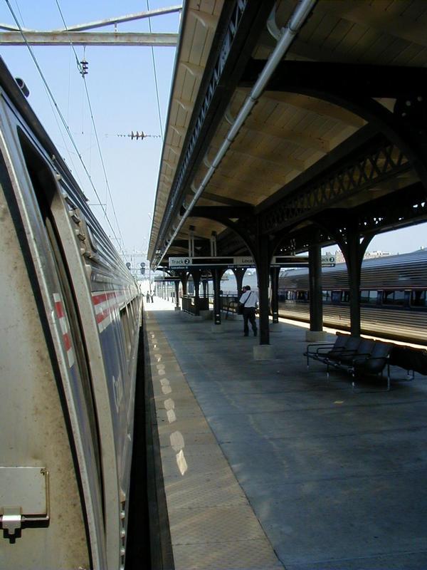 Amtrakin juna matkalla New Yorkiin