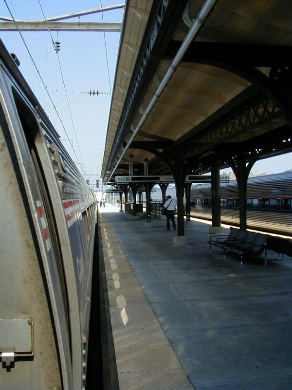 An Amtrak train on its way to New York